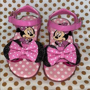 Minnie Mouse light up sandals size 7